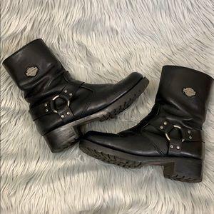 Harley Davidson ladies motorcycle boots black